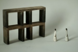 (020)wood figure-mini & construction 箱入 04