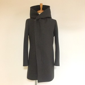 Wrap-Hooded Coat Khaki
