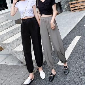 【ボトムス】ファッション涼しい薄めハイウエスト九分丈ワイドレッグパンツ