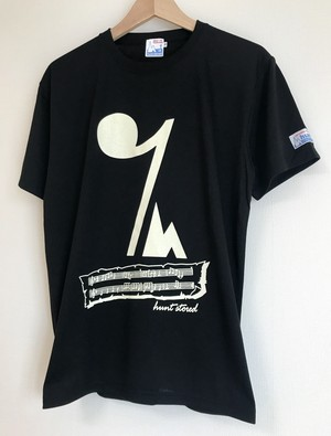 hs-23 ACTIVE 『EIGHTH REST』 T-SHIRT ・ブラック