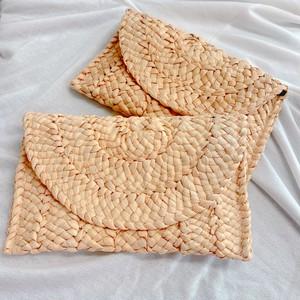 藁の手編み ハンドバッグ