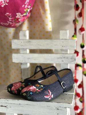 台湾刺繍靴_Denim_24.5cm