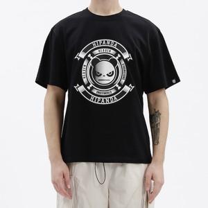 SALE【HIPANDA】メンズ Tシャツ MEN'S PANDA PRINT SHORT SLEEVED T-SHIRT / BLACK