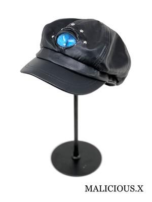 cat eye casquette / blue