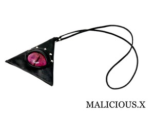 cat eye triangle coin case / magenta