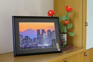 新宿・富士山 額入り写真