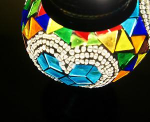 マリン・ハート スタンド型 ランプ 照明 インテリア モザイク アート ライト 雑貨 魔法のランプ