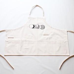 short apron [circle] ※sample / illustration by fujiwara ayumi