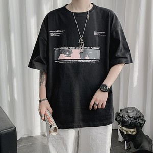 ユニークプリントTシャツ BL6066
