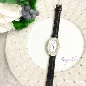 完成品 キラキラエレガント時計 ブラック