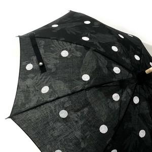 DOT スパンコール刺繍日傘 ブラックプラント×白 43㎝