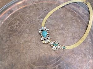 vintage necklace turquoise bijou <NC-MStq>