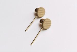 circle stick pierce/earring【CAMEL】