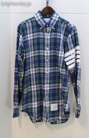 THOME BROWNE CHECK SHIRT
