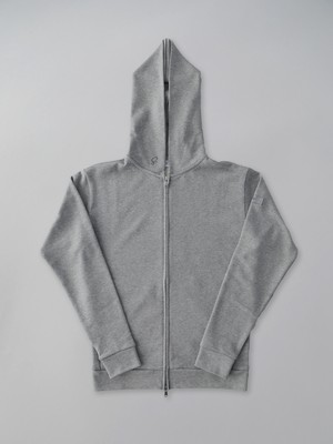 Basic Zip Up Parker Gray