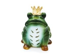 香炉 キャンドルホルダー カエル置物 王冠蛙