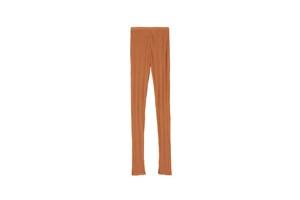 IRREGULAR RIB PANTS - [ORANGE]
