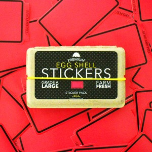 EGGSHELL STICKERS PINK LINE BORDER - 80pcs