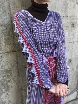 70s diane freis dots dress ( ダイアン フレイス ドット柄 ワンピース )