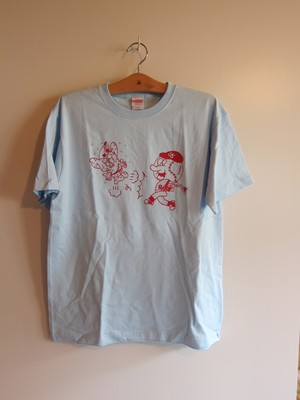 "Minto ""Hungry Mintown Ys""tee Light blue"