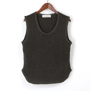 oxford wool jersey vest / khaki