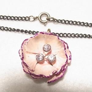 ヴィンテージ ピンクのフラワーペンダントネックレス コスチュームジュエリーのセール通販 4956N