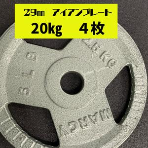 29㎜ アイアンプレート 20kg 4枚