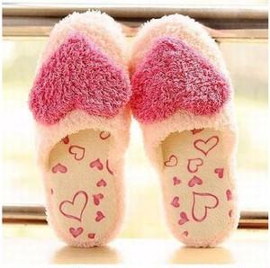 カワイイ もこもこ スリッパ 室内履き用 ルームシューズ 【ピンク】vwab177
