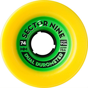 Dual Durometer / Yellow (74mm 78A)