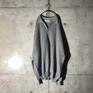 [used] grey zippered knit