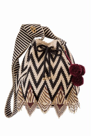 ワユーバッグ (Wayuu bag) Luxe line With Bead Art E