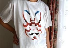 歌舞伎Tシャツ 【戻橋】 海外の人の目も釘付けのユニークな隈取りデザイン
