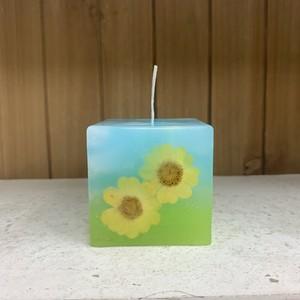 FLOWER CUBE CANDLE キャンドル 【レモングラスの香り】