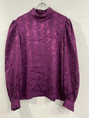 (TOYO) high neck design blouse