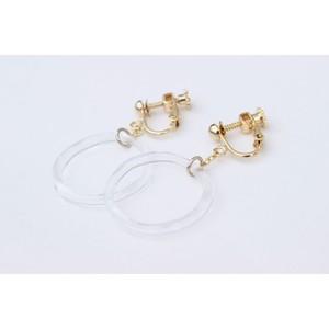 ring glass earring -1