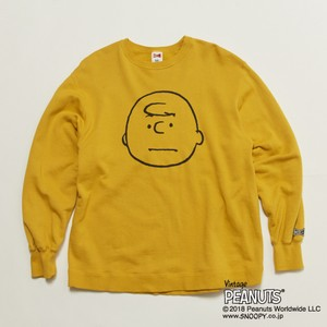 再入荷!! CHARLIE BROWN VTG BIG SWT - MUSTARD