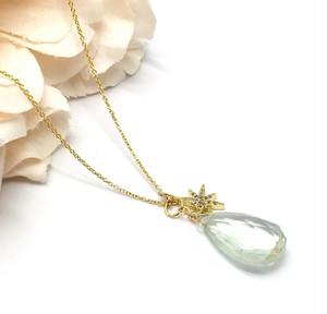 宝石質「グリーンアメジスト」のペンダントトップ