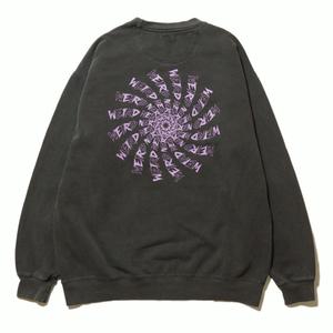 Wheel Logo Garment Dyed Sweat (Wahsed Drak Gray)
