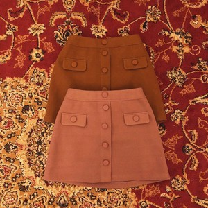 retro button skirt