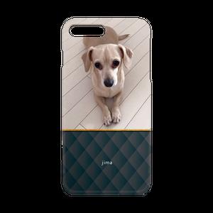 iPhone・Android Mサイズ モコモコハードケース color:ブラック