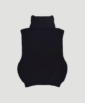 MAISON EUREKA Turtle Neck Warmer Vest Black 194