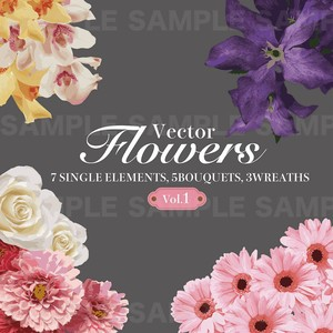 Floral(グラフィック素材・Vector)