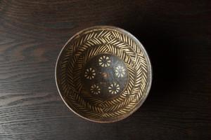 印花紋茶碗 茶