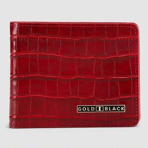 ゴールドブラック(GOLDBLACK) GM WALLET CROCO RED