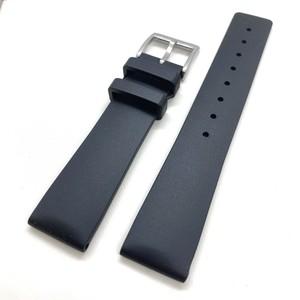 ラバーストラップ・プレーンTPU ラバーベルト ブラック 20/22mm 腕時計ベルト