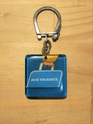 "Vintage BOURBON ""AIR FRANCE"" key ring [c1111]"