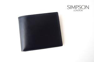 シンプソン ロンドン|SIMPSON LONDON|小銭入れ付き2つ折り財布|コードバン|ネイビー