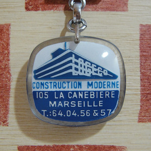 フランス LOGECO[ロジェコ] 建設会社 モダン建築ブルボンキーホルダー