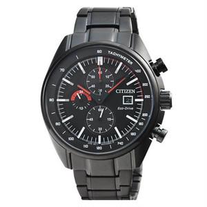 新品 CITIZEN CA0595-54E Eco-Drive Chronograph 黒 シチズン エコ・ドライブ タキメーター クロノグラフ 腕時計