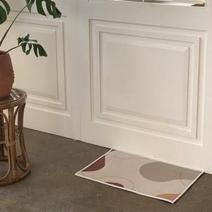 geometry foot mat 3type / アート デザイン フットマット バス 玄関マット ラグ 韓国 北欧